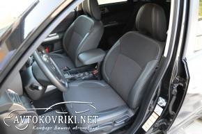 MW Broth Чехлы из ЭКОкожи для Subaru Forester 3 2008-2013 серая