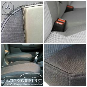 Автомобильные чехлы Mercedes-Benz C-Class (W203) 2001-2007 разде