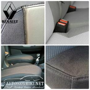 Автомобильные чехлы Renault Duster 2015- раздельная спинка
