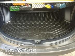 Коврик в багажник автомобиля Тойота Рав 4 2014- с докаткой полиу