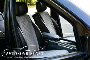 Накидки на сиденья автомобиля Серые (комплект)