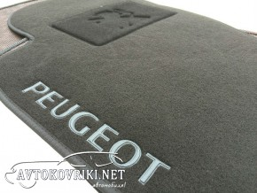 Текстильные коврики в салон для Peugeot 307 2001- черные ML Lux