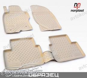 Коврики в салон для Mazda CX-5 2012- бежевые Norplast