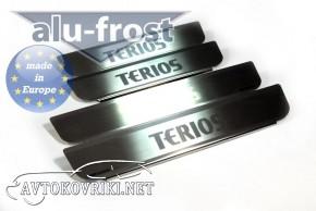 Накладки на пороги Daihatsu Terios 2006- Alufrost