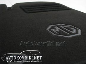 Текстильные коврики в салон для MG 6 2010- черные ML Lux 4 клипс