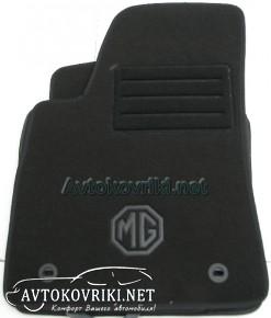 Текстильные коврики в салон для MG 5 2012- черные ML Lux 4 клипс