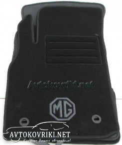 Текстильные коврики в салон для MG 3 2013- черные ML Lux 4 клипс