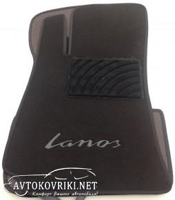 Текстильные коврики в салон для Daewoo Lanos 1996- черные ML Lux