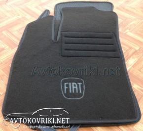 Текстильные коврики в салон для Fiat Doblo 2000- черные ML Lux