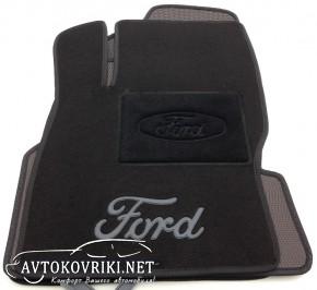 Текстильные коврики в салон для Ford Focus 2 2004-2011 черные ML