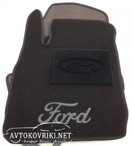 Текстильные коврики в салон для Ford Fiesta 2008- черные ML Lux