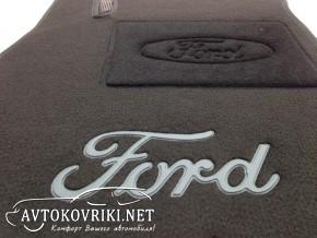 Купить текстильные коврики в салон Форд Фиеста 2008- черные Люкс