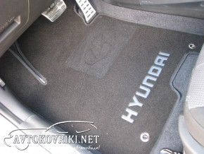 Купить текстильные коврики в салон Хендай i30 2012- черные Люкс