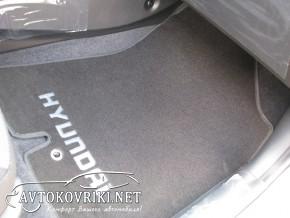 Текстильные коврики в салон для Хендай i30 2012- черные МЛ Люкс
