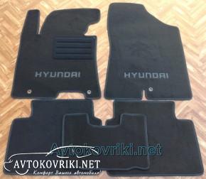 Текстильные коврики в салон для Hyundai i30 2012- черные ML Lux