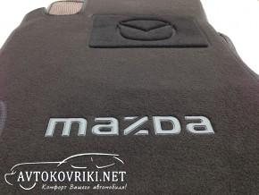 Коврики в салон текстильные для Mazda 6 2002-2007 черные ML Lux