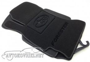 Ворсовые коврики Subaru Forester IV 2013- черные Milan