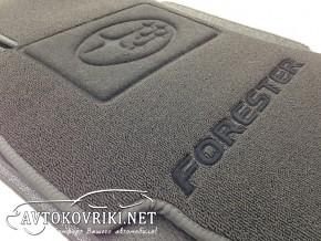Купить ворсовые коврики Субару Форестер 4 2013- черные Milan