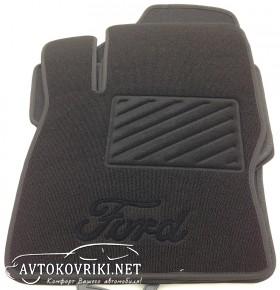 Ворсовые коврики Форд Фокус II черные Милан