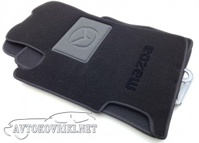 Ворсовые коврики Mazda 6 2002-2007 черные Milan