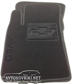Ворсовые коврики Chevrolet Aveo 2003-2012 черные Milan