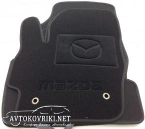Ворсовые коврики Mazda 3 2009-2013 черные Milan