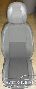 MW Brothers Чехлы из ЭКОкожи для Hyundai ix35 2010- серая строчк