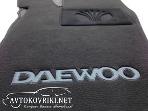 Коврики в салон текстильные для Daewoo Nexia 1998- черные ML Lux