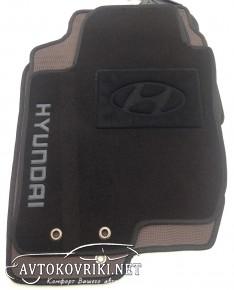 Текстильные коврики в салон для Hyundai i30 2007-2012 черные ML