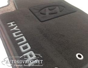 Купить текстильные коврики в салон Хендай i30 2007- черные Люкс
