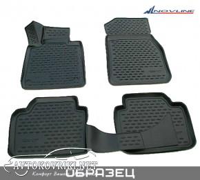 3D коврики в салон для Renault Duster 4*2 2010- черные Novline