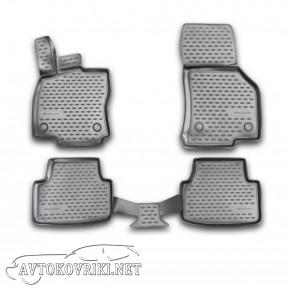 3D Коврики в салон автомобиля Шкода Октавия А7 2013- черные Новл