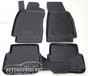 Коврики в салон для Audi A6 (C6) 2005-2011 черные Novline