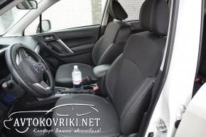 MW Brothers Чехлы из ЭКОкожи для Subaru Forester IV 2013- серая