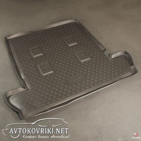 Коврик в багажник для Lexus LX 570 2007- (7 мест) полиуретановый