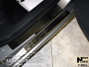 Накладки на пороги Skoda Octavia A7 2013-