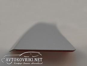 Накладка на бампер с загибом для Chevrolet Aveo Hatchback 2012-