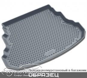 Коврик в багажник для Citroen C3 Picasso 2009- полиуретановый се