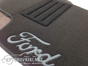 Купить текстильные коврики в салон Форд Мондео 2007- черные Люкс