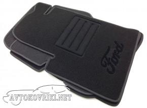 Ворсовые коврики Ford Fiesta 2002-2008 черные Milan