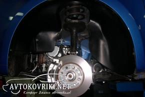 Подкрылок Chevrolet Aveo 2012- передний левый Novline