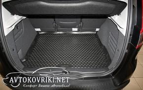 Novline Коврик в багажник автомобиля Renault Scenic 2009- полиур