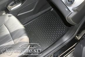Коврики в салон для Chevrolet Aveo 2012- черные Novline