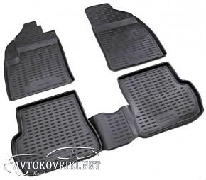 Коврики в салон для Ford Fiesta 2008- черные