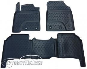 Коврики в салон для Lexus LX 570 2012- (5 мест) черные Novline