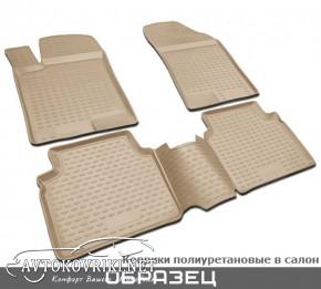 Коврики в салон для Lexus LX 570 2012- (5 мест) бежевые Novline
