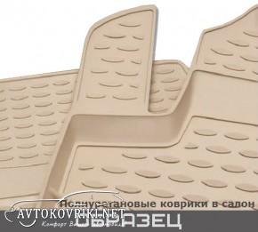 Коврики в салон для Lexus LX 570 2012- (7 мест) бежевые Novline