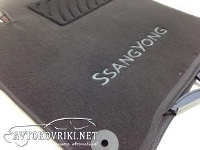 Коврики в салон текстильные для Ssang Yong Korando 2010- черные