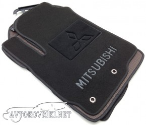 Текстильные коврики в салон для Mitsubishi ASX 2011- черные ML L