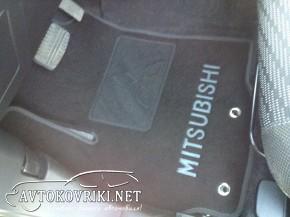 текстильные коврики в салон Мицубиси ASX 2011- черные Люкс